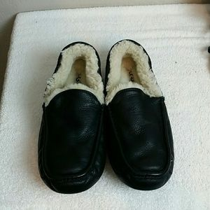 UGG Ascot Leather Sheepskin Loafers
